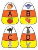 Initial Sound Candy Corn Puzzles A-Z Fall Halloween Literacy Phonics Center