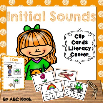 Initial Sounds - Clip Cards Literacy Center