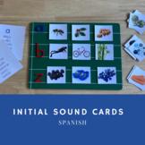 Initial Sound Cards Spanish/ Sonidos Iniciales Español