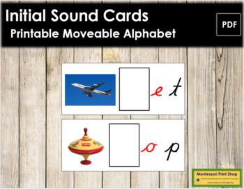 Initial Sound Cards for Printable Moveable Alphabet CURSIV