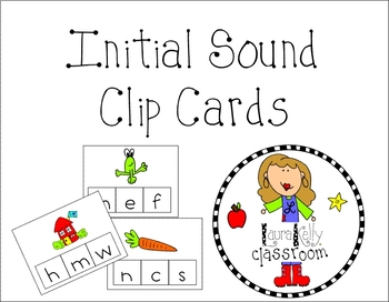 Initial Sound Clip Card Printable