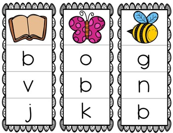 Initial/Beginning Sound Clip Cards: Bb