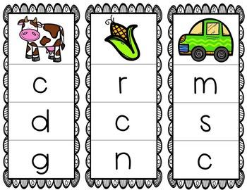 Initial/Beginning Sound Clip Cards: Cc