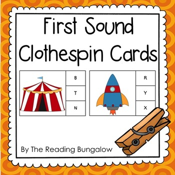 Initial Sound Clothespin Cards {Great for First Sound Fluency - DIBELS!}