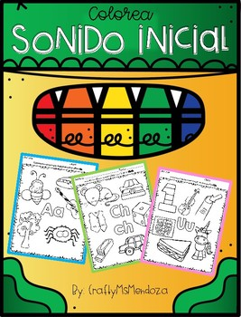 Initial Sound Coloring Activity - Spanish / Colorea Sonido Inicial