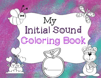 Initial Sound Coloring Book