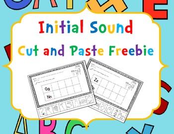 Initial Sound Cut and Paste Freebie