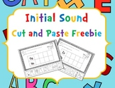 Initial Sound Cut and Paste Freebie