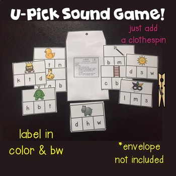 Initial Sound Games! 7 in all!