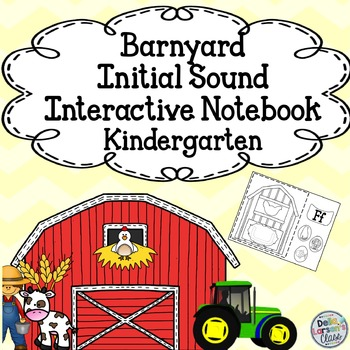 Initial Sound Interactive Notebook - Barnyard