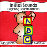 Initial Sound Learning Station Activities {4 Beginning Sou