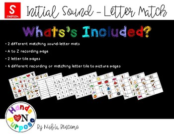 Initial Sound - Letter Match - Spanish Version