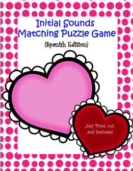 Initial Sound Matching Puzzle Game (Spanish Edition)