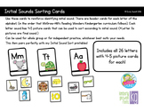 Initial Sound Picture Cards Letter Sort (Reading Wonders Kindergarten)