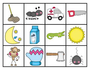 Initial Sound Picture Cards Letter Sort (Reading Wonders Kindergarten)