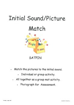 SATPIN Initial Sound /Picture Matching