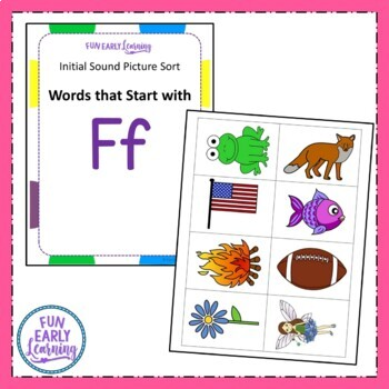 Initial Sound Picture Sort - Letter Identification and Letter Sounds