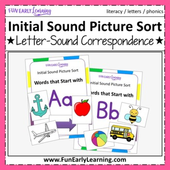 Initial Sound Picture Sort - Letter Identification and Let