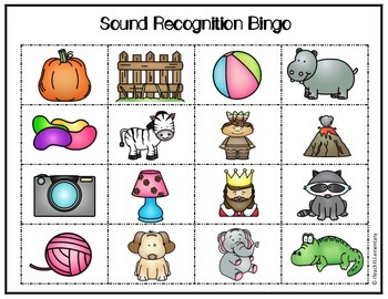 {Initial} Sound Recognition Bingo