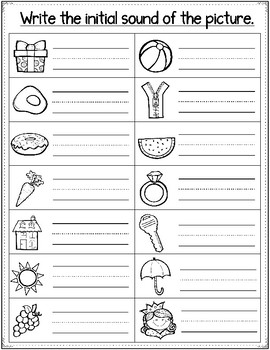 Beginning  Sound Review Worksheets