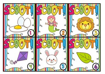 Initial Sound Scoot - Whole Class Alphabet Game