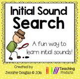 Initial Sound Search Worksheets