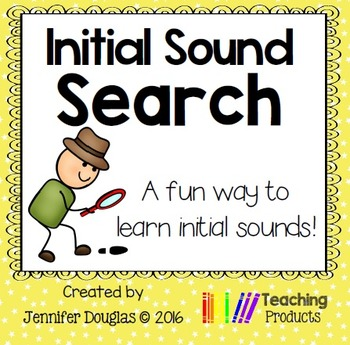 Initial Sound Search No Prep Printables