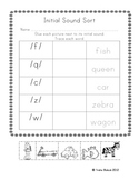 Initial Sound Sort Student Sheets