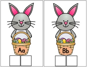 Easter Bunny Initial Sound Sorting Center