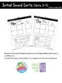Initial Sound Sorts (Reading Wonders Kindergarten Units 3 & 4)