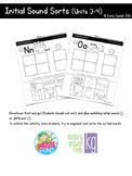 Initial Sound Sorts (Reading Wonders Kindergarten Units 3 & 4)