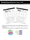 Initial Sound Sorts (Reading Wonders Kindergarten Units 7 & 8)