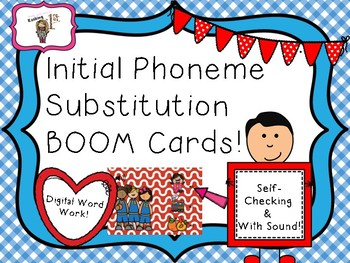 Initial Sound Substitution BOOM Task Cards!