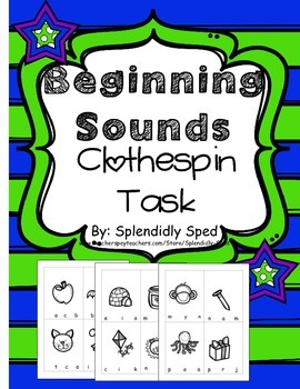 Initial Sound Task Cards Phonemic Awareness