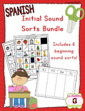 Beginning Sound Recognition BUNDLE: 6 Initial Sound Word Sorts (Spanish)