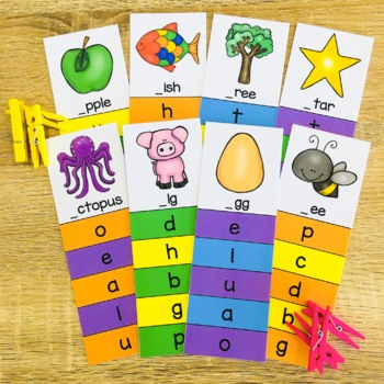 Initial Sounds Alphabet Phonics Cards for Phonics Activities