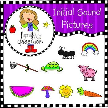 Initial Sounds Alphabet Pictures Clip Art