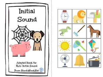 Initial Sounds- An ELA Concept Adapted Book for Autism Units or Early Elementary
