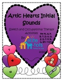 Initial Sounds-Artic Hearts Themed Worksheets for Speech/Occupational Therapy