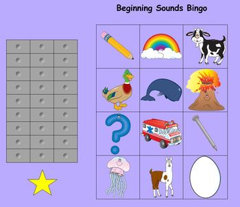 Initial Sounds Bingo for the Smartboard