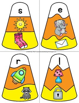 Initial Sounds Candy Corn Puzzles for A to Z!