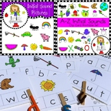 Initial Sounds Clip Cards and Clip Art Bundle