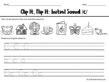 Initial Sounds: Clip it, Flip it!