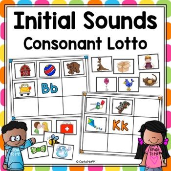 INITIAL SOUNDS  Consonant Lotto and Bingo Games