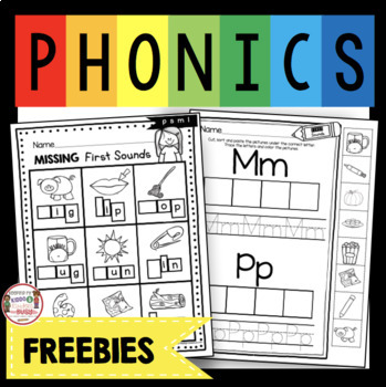 Initial Sounds FREEBIE - CVC Words Phonics - Free First Sound Worksheets