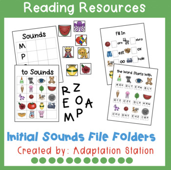 Initial Sounds File Folders