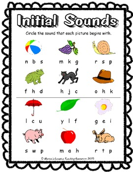 Initial Sounds Game {Piece of Pie}