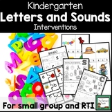 Kindergarten Letters and Sounds Intervention Activities