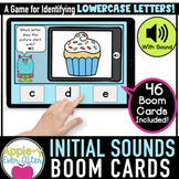 Initial Sounds - LOWERCASE | Boom Cards™ - Distance Learning