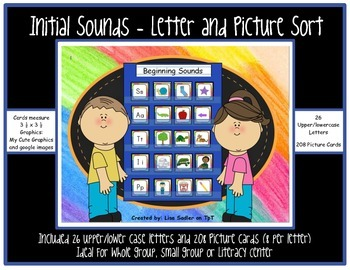 Initial Sounds- Letter and Picture Cards